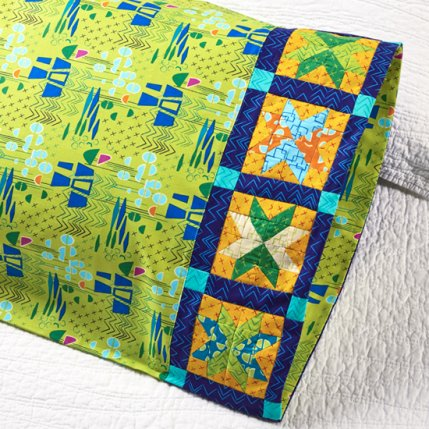 Starry Echoes Pillowcase Band Free Quilt Pattern