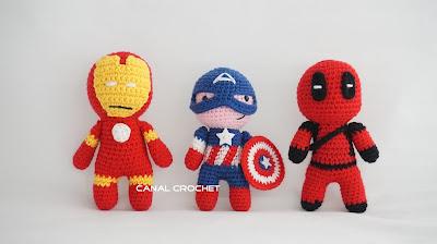 Amigurumilacion : Canal crochet: resultados de la búsqueda de super heroes amigurumis