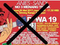 Nah, Hoax Poster Konser 'Menang Telak Anies Sandi' Siapa Yang Buat