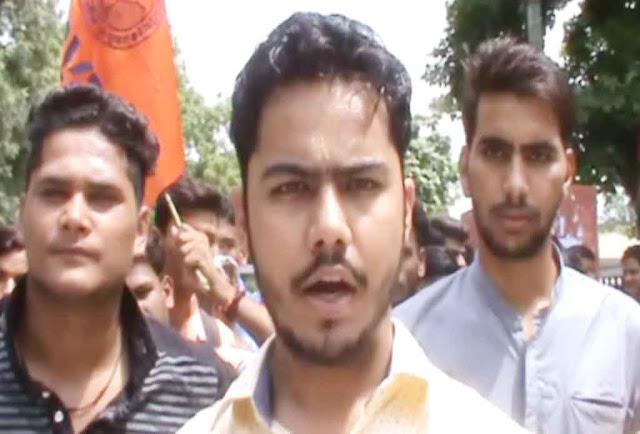 abvp-activist-agitation-nehru-college-faridabad