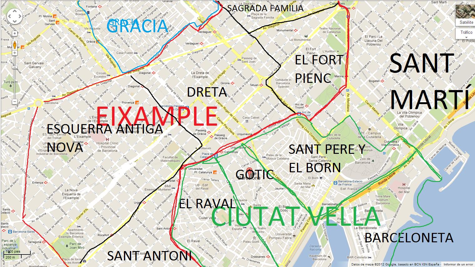Distritos De Barcelona Mapa.Mapa De Barcelona Por Barrios Mapa