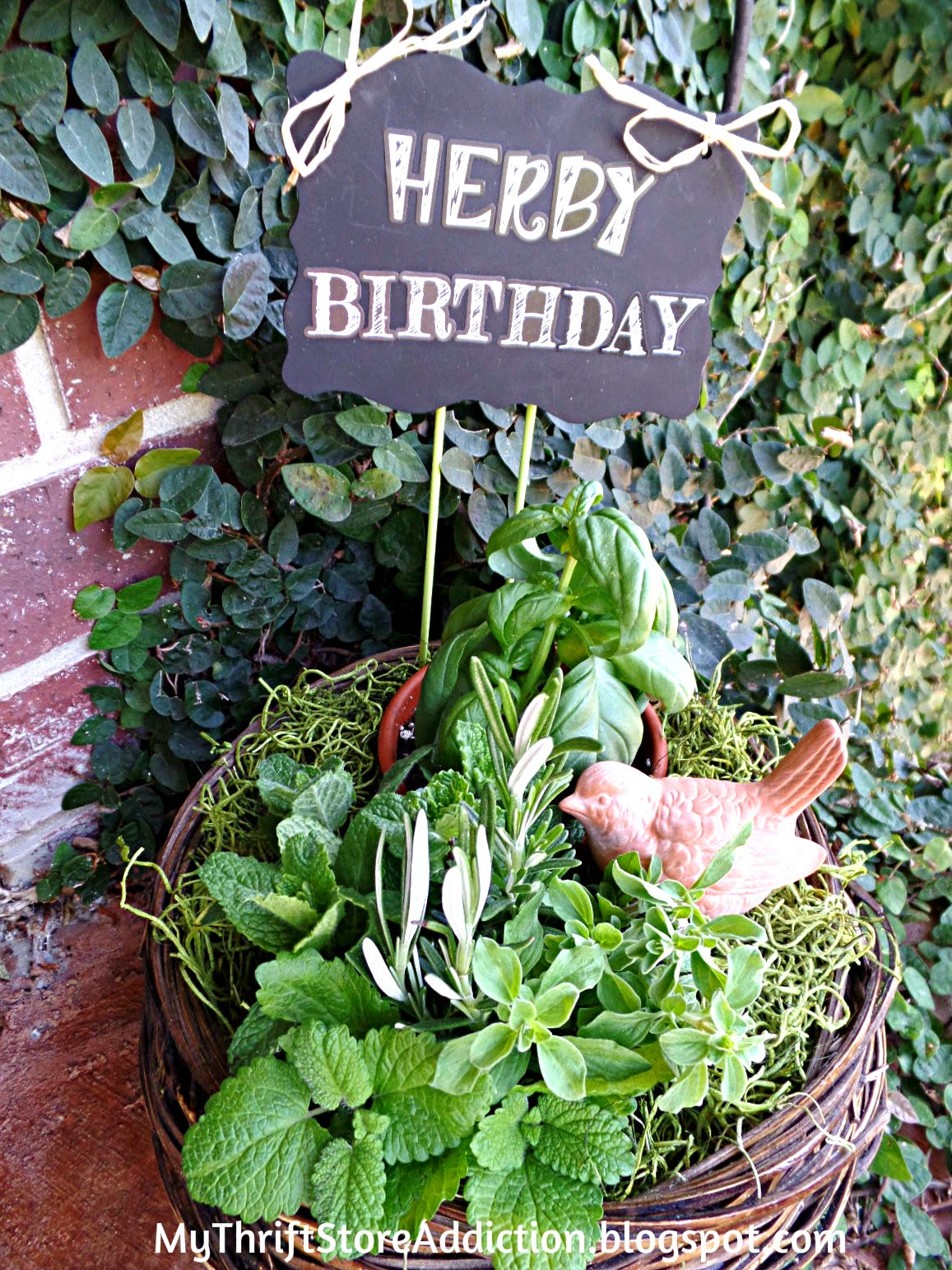 Herb gift basket tutorial