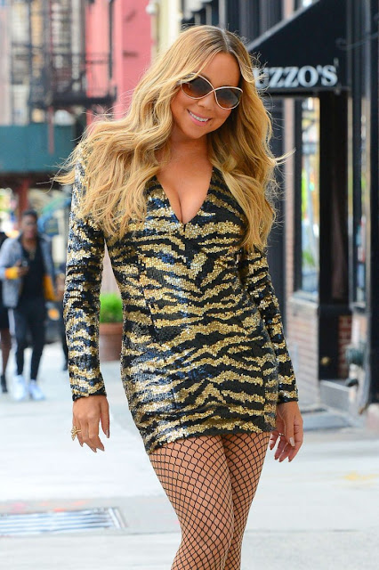 Mariah Carey in Short Dress out in NYC
