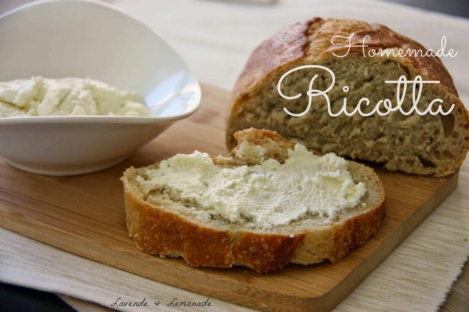 Homemade Ricotta - amazingly delicious and so easy to make with these step-by-step instructions by Lavende & Lemonade