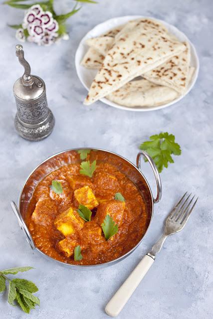 Curry z serem paneer