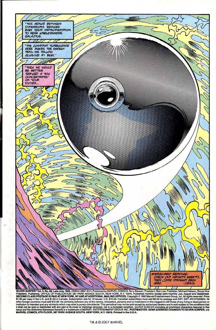 Read online Silver Surfer (1987) comic -  Issue #68 - 3