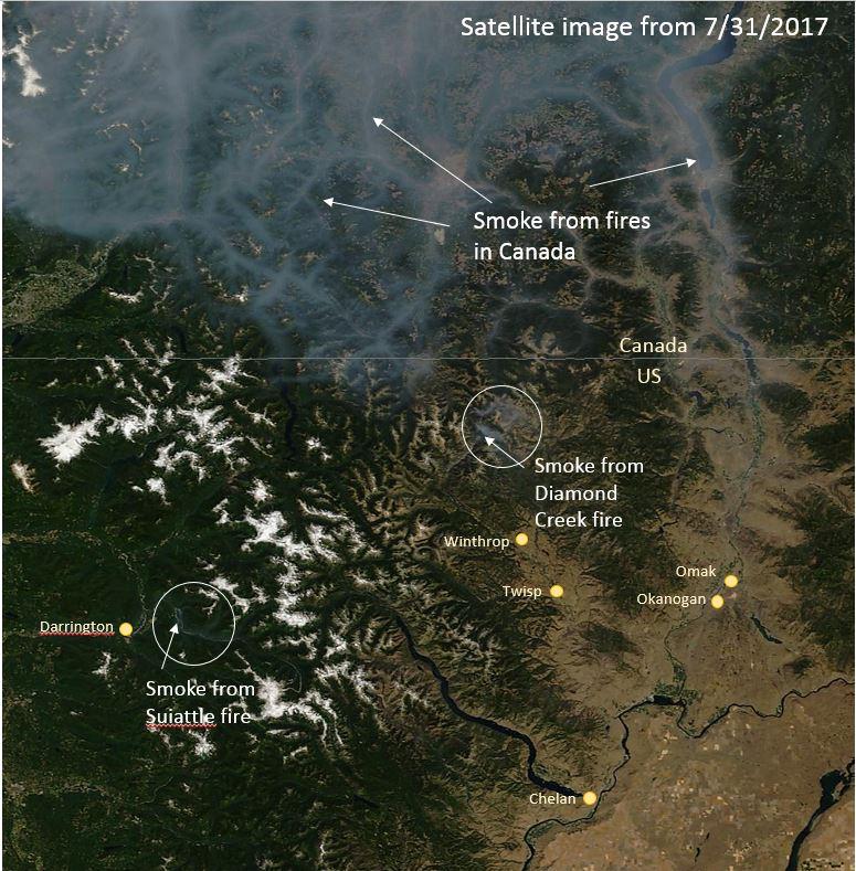 Washington Smoke Information 8 1 2017 What Is Impacting Air Quality