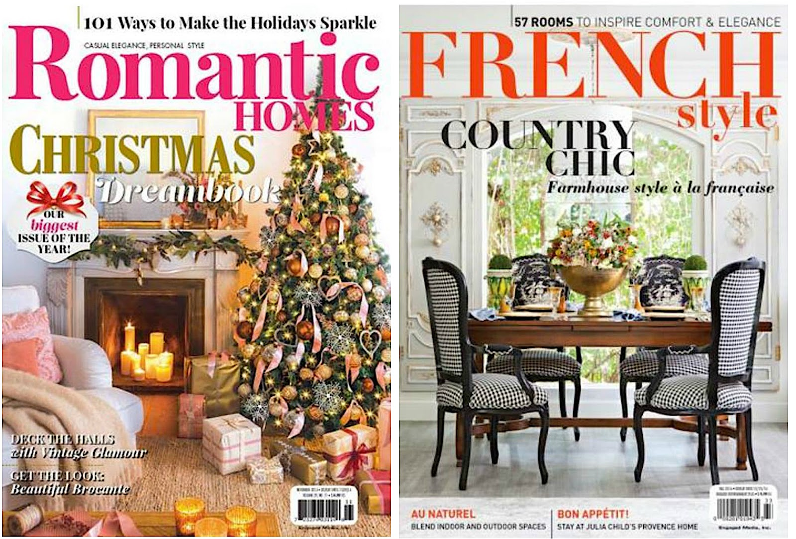 Engaged Media Romantic Homes Christmas Magazine French Country Style Magazine