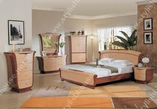 Distinctive wooden bedroom furniture set marked by simplicity