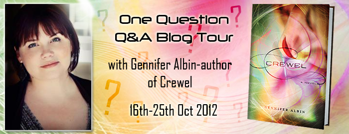 One Question Q&A Blog Tour with Gennifer Albin
