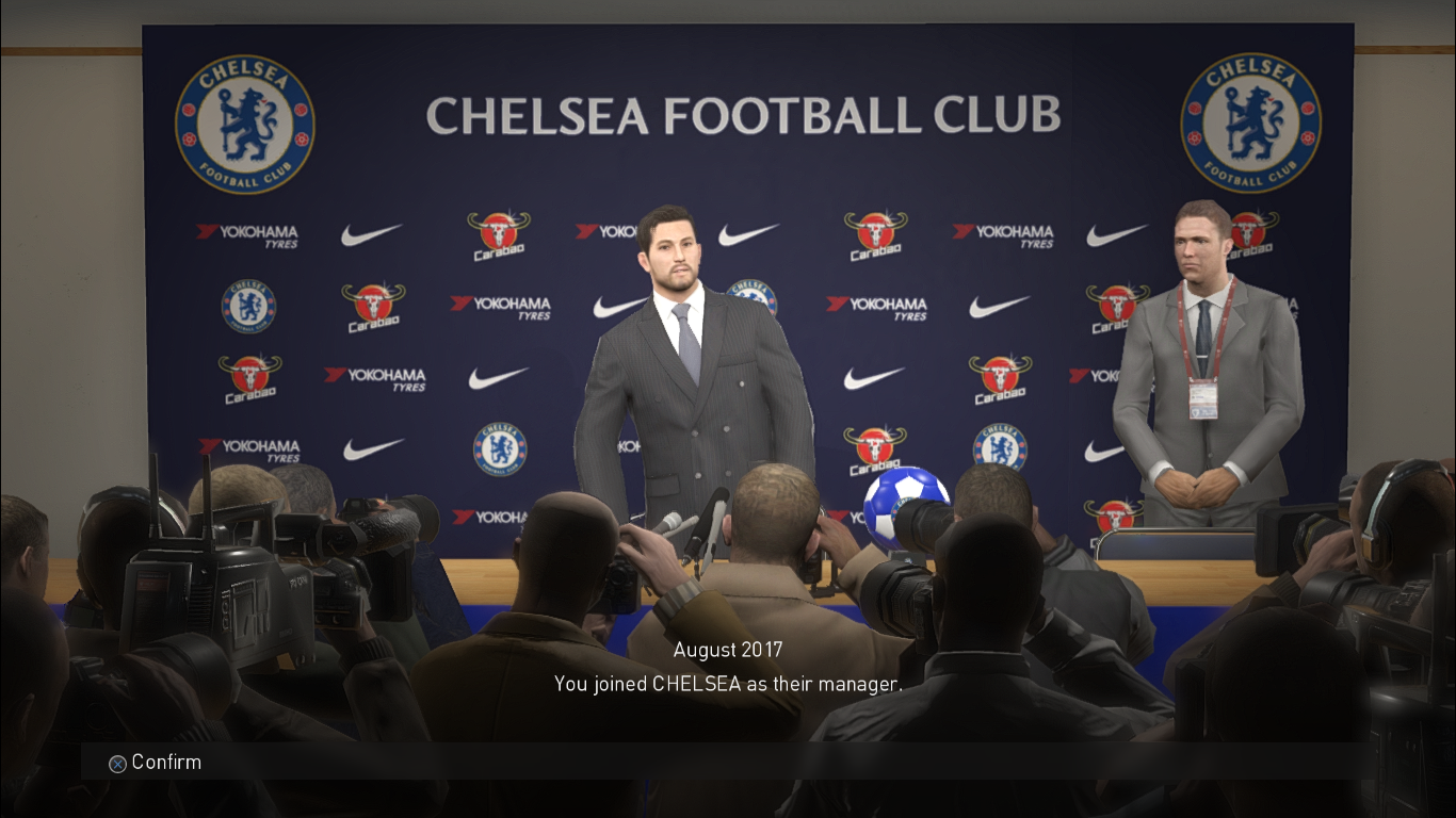 PES 2018 Chelsea Press Conference Room by Ginda