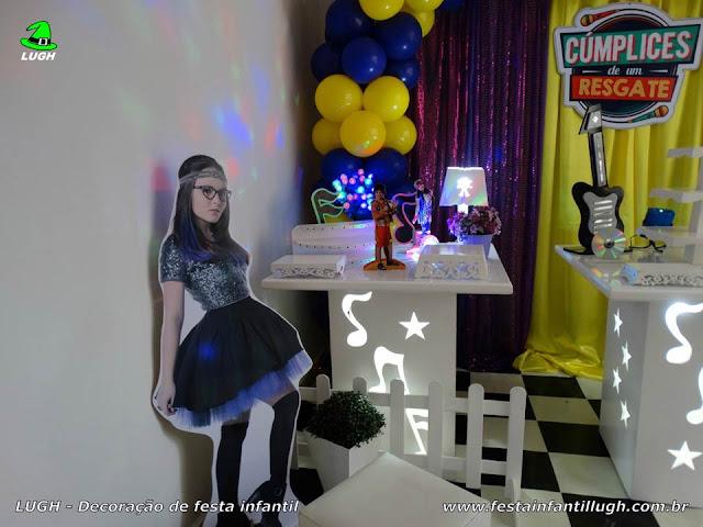 Decoração de aniversário Cúmplice de um resgate - mesa provençal temática do bolo