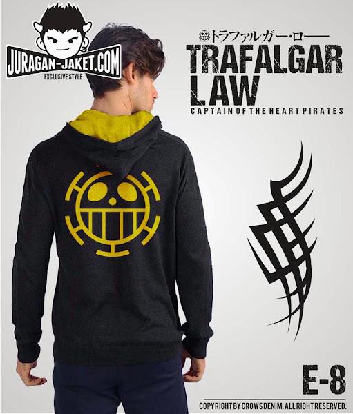 jas exclusive jaket anime one piece  trafalgar law e 8 (belakang)