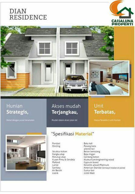 Dian Cassaluna Residence, Rumah KPR Langsung Owner