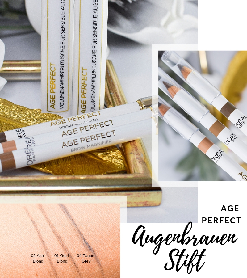 Übersicht und Test der L'Oréal Age Perfect Augenbrauen Stifte