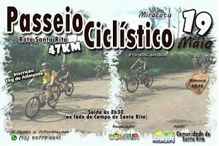 COMTUR de Miracatu realiza passeio ciclístico - Rota Santa Rita