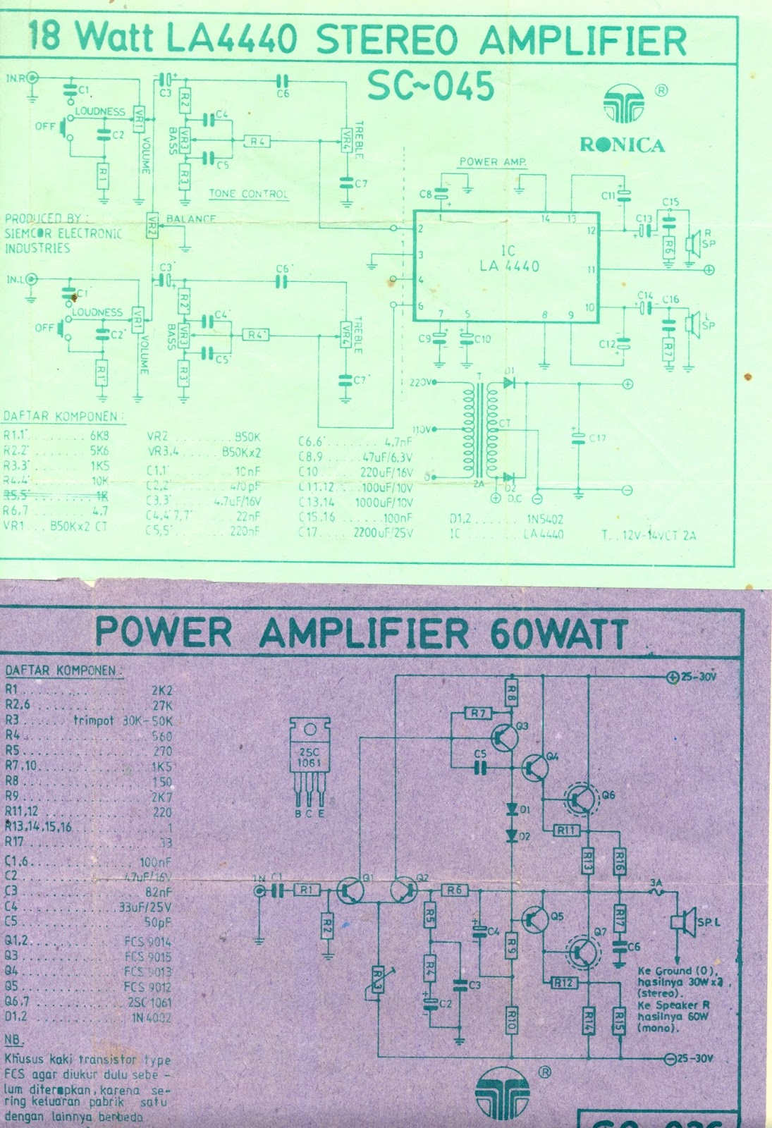 Class Ab Amplifier Skema My Colections T 60 Watts Audio Circuit Using Tda7296 First Ic Amp Project Based On La4440 And Push Pull Discrete D Tpa3116d2 Schematic