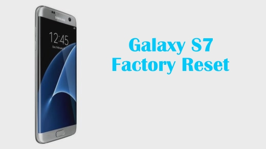 How to restore s7 edge to factory settings