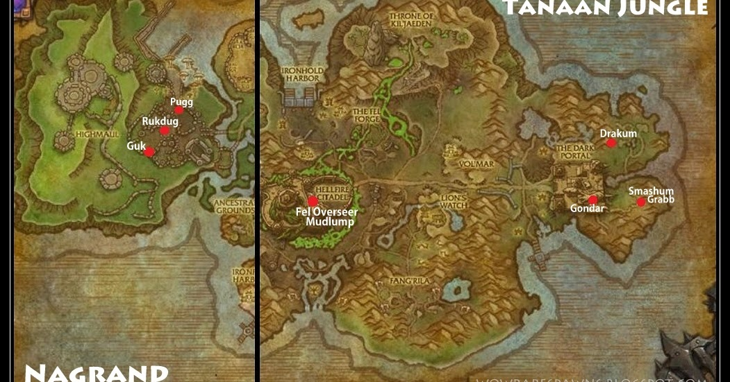 WoW Rare Spawns: New Rares in Nagrand and Tannan Jungle (Patch 6.2.2)