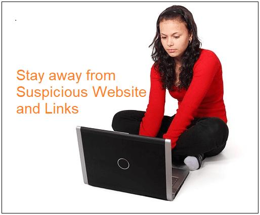dont click suspicious link