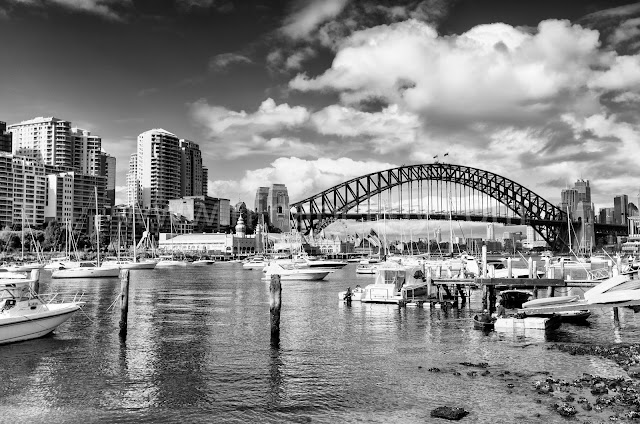 View of Sydney Harbour from Lavender Bay or Quiberee