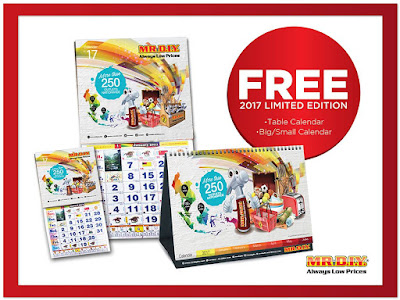 MR DIY Free 2017 Calendar Table Limited Edition