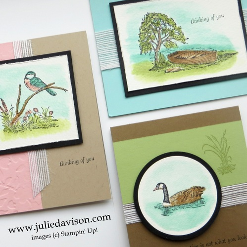 Stampin' Up! Moon Lake Watercolor Card Kit #stampinup www.juliedavison.com