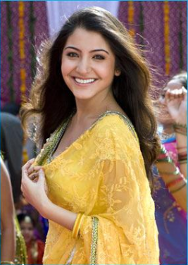 Anushka Sharma Yellow Saree