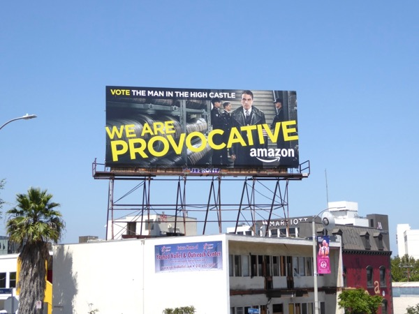 Man High Castle Emmy provocative billboard