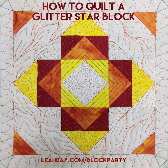 Glitter Star Block quilting tutorial