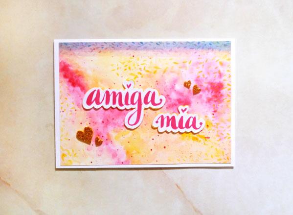 imprimible fondo con acuarelas tarjeta