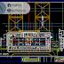 مخطط مشروع محطة حافلات بشكل مميز 2 اوتوكاد dwg