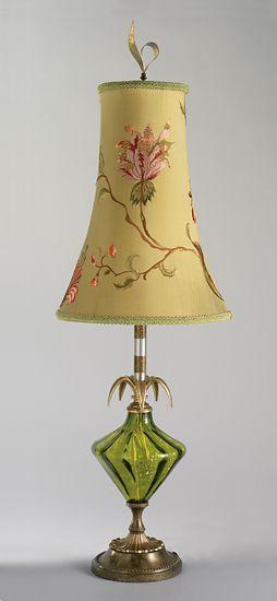 haftowane abażury lamp