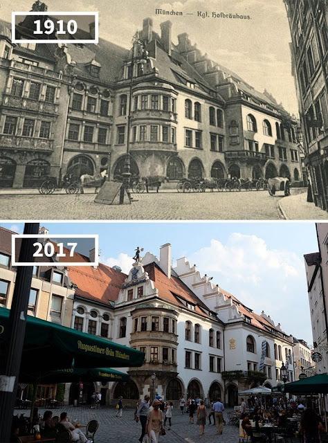 Antes y después Restaurante Hofbräuhaus, Munich