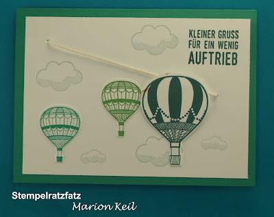 """Karte Seilbahn """"Abgehoben"""" mit Stampin´ Up!"""
