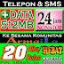 CUG Nelpon dan SMS + 512MB 20 Ribu Perbulan