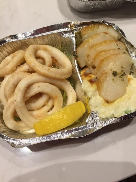 calamari;  greek food;  flame greek tavern