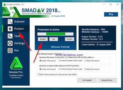 Antivirus smadav sangat bagus bagi pendapat admin dalam memberantas virus 3 Tutorial Memenonaktifkan Antivirus Smadav Free Sementara Waktu