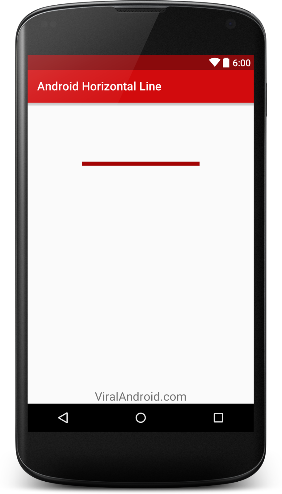 How to Create Horizontal Lines in Android Using XML