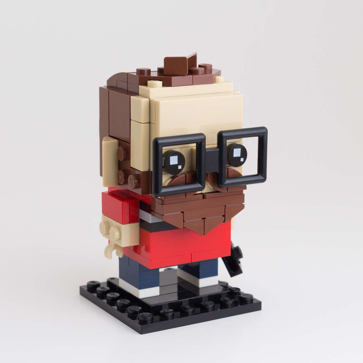 Modified 2 x 2 with Bar Frame Square Reddish Brown 4 NEW LEGO Plate