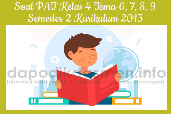 Soal PAT UKK Kelas 4 Semester 2 Tahun 2019 Tema 6, 7, 8, 9