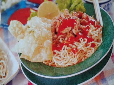 Gambar Resep Mie Ayam Jamur Pangsit
