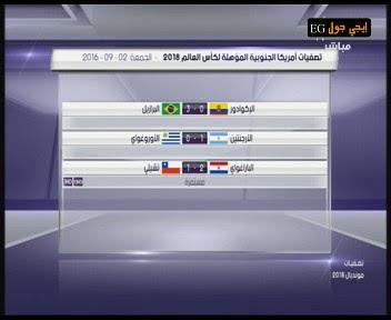 جدول ترتيب منتخبات امريكا الجنوبية فى تصفيات كاس العالم 2018