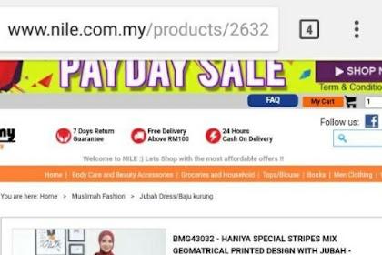 Jubah Dress RM16 di Nile.com.my
