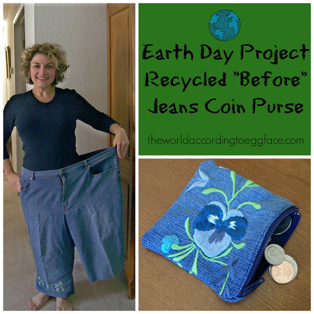 Eggface%2BBefore%2BJeans%2BEarth%2BDay%2BProject Weight Loss Recipes Celebrate Earth Day   Recycle Projects WLS Style