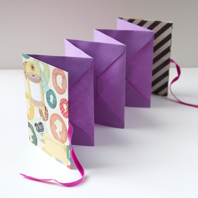 Diy Accordion Folding Envelope Mini Album