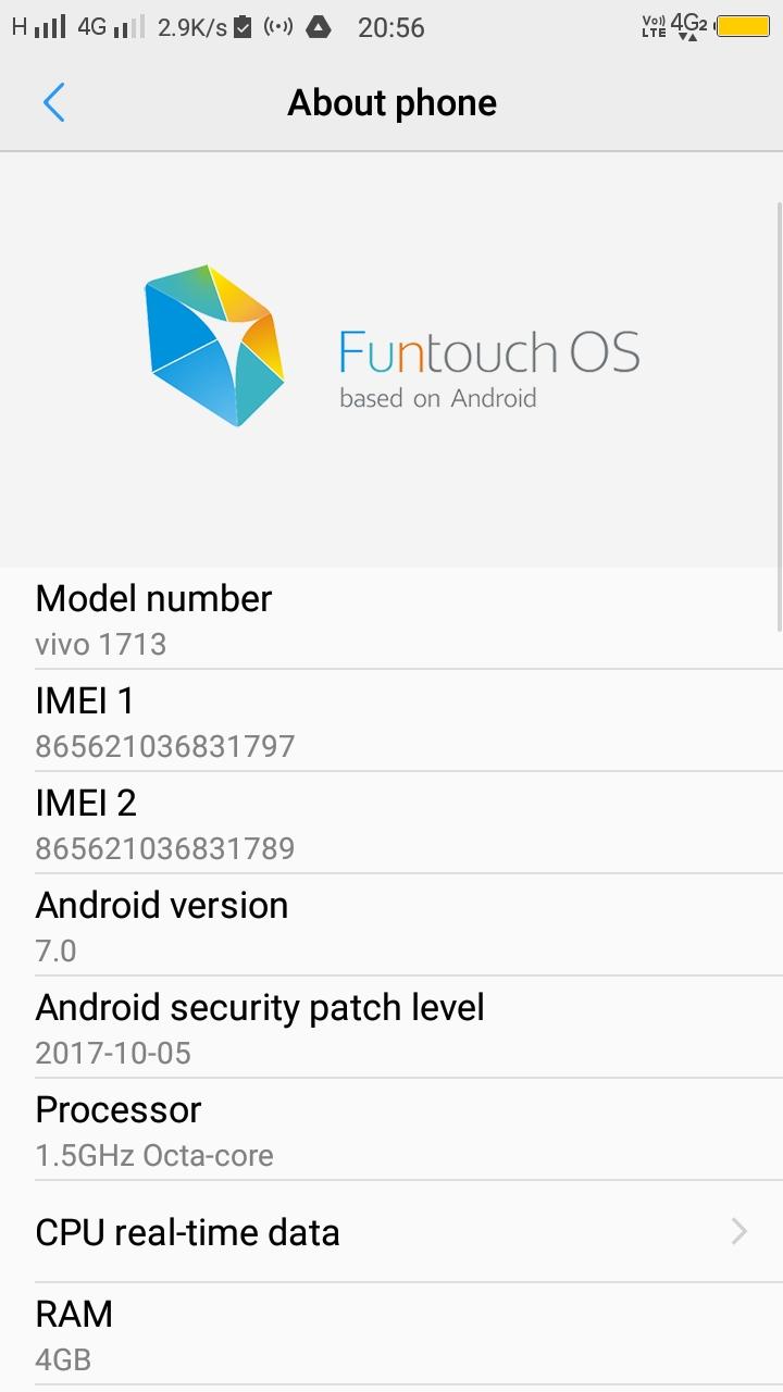 Official Android Nougat OTA Update For Vivo V5s