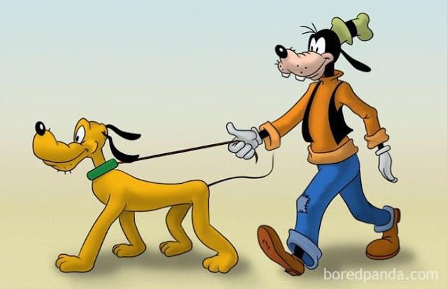 O dono do cão também é um cão, estranho!