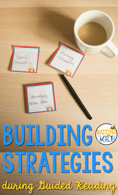 If you're looking for a lesson plan template for guided reading, look no further. This post includes a free download of a template along with strategy resources that will help you implement guided reading in your classroom! Small groups in upper elementary don't have to be difficult to plan for! Learn how to choose a strategy, choose a book, and write an introduction, prompts, and questions to help your students grow!