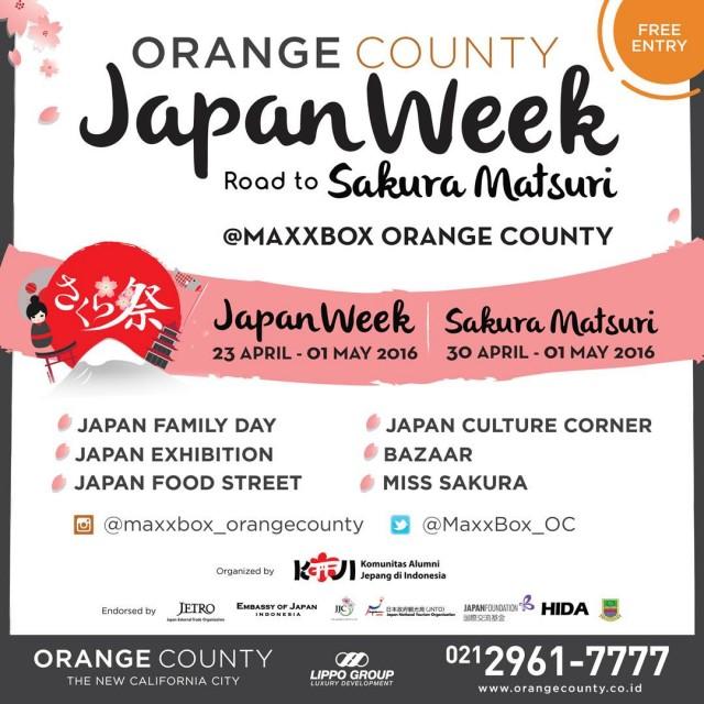 Japan Week Road to Sakura Matsuri 2016 Orange County Lippo Cikarang